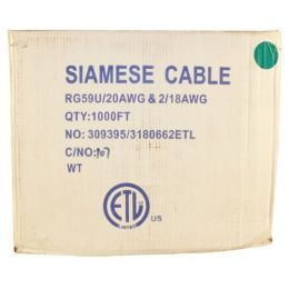 1000 FOOT Siamese RG59 Cable White.